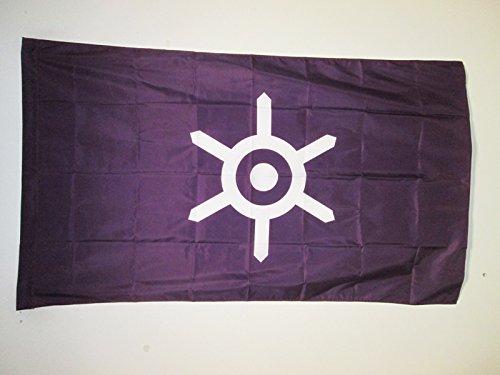 AZ FLAG Flagge Tokio 150x90cm - Tokio Fahne 90 x 150 cm Scheide für Mast - flaggen Top Qualität