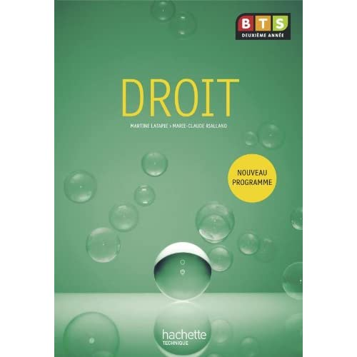Droit, BTS 2e année, Livre de l'élève, éd. 2010