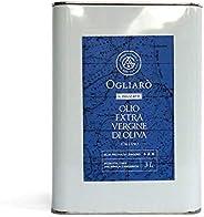 """Olio extravergine di oliva - 3 litri - Ogliarò """"Il delicato"""" evo italiano monocultivar Ogliarola Gar"""