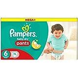 Pampers Baby-Secs Pantalons Taille 6 Pack Mensuel De L'Épargne Des Couches 76 -