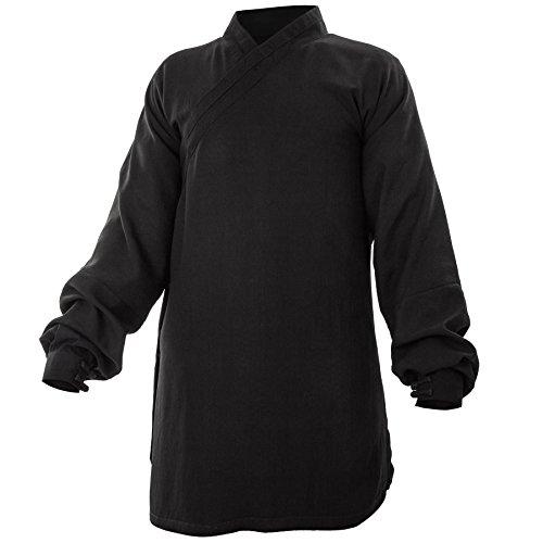 wu designs Baumwolle (Leicht) Kung Fu & Tai Chi Shirt Diagonaler Kragen Manschetten - Taiji Anzug - Taiji Anzug Bordeaux 180