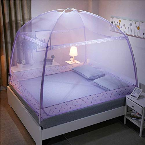 tarbeit für Bettreisen, 2-türiges Polyester-Moskitonetz mit voller Unterseite, Faltzelt-Mattenüberdachungsvorhänge für Bett-Ausgangs-Schlafzimmer-Kampieren im Freien ()