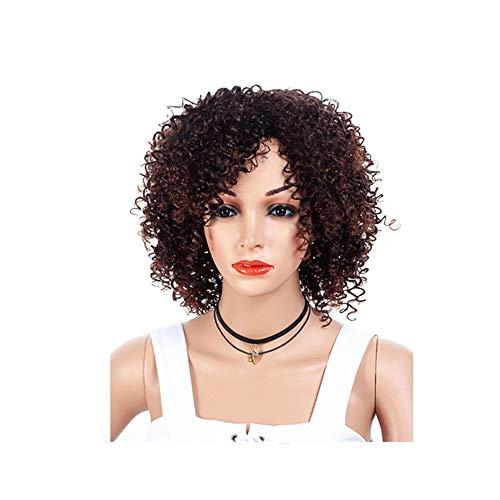 Junge Ivy Kostüm Poison - Perücke Perücke Dame Geeignet für Halloween Rollenspiele African Small Roll 32cm 170g