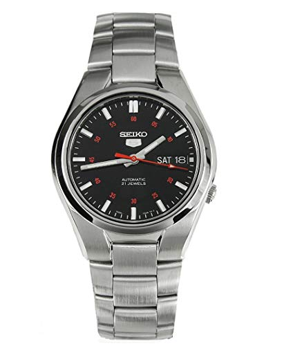 Seiko Herren Analog Automatik Uhr mit Edelstahl Armband SNK617K1 - Bänder Automatik-uhr Seiko