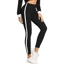 SOLY HUX Leggings de rayas laterales - Negro