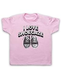 I Love Shoegaze Indie Alternative Rock Fan Camiseta para Niños