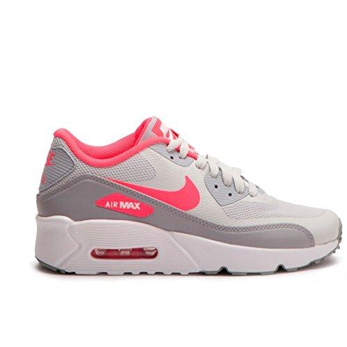 Nike Air Max 90 Ultra 2.0 (GS) Sneaker Kinder Hellgrau (Pure Platinum/Wolf Grey/Racer Pink)