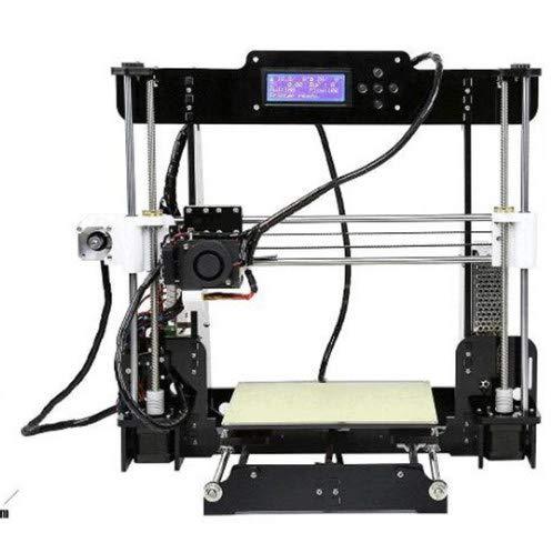 ZZWBOX 3D Drucker Verbesserter Hochpräziser DIY 3D Drucker in voller Qualität mit 1,75 mm ABS/PLA Filament (Druckgröße 220 × 220 × 240 mm),Black