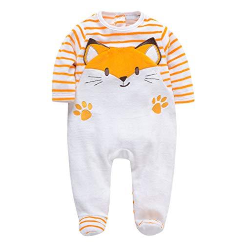 Bébé Combinaison Footies Barboteuses Pyjamas Velours Grenouillère Manches Longues Body 9-12 Mois