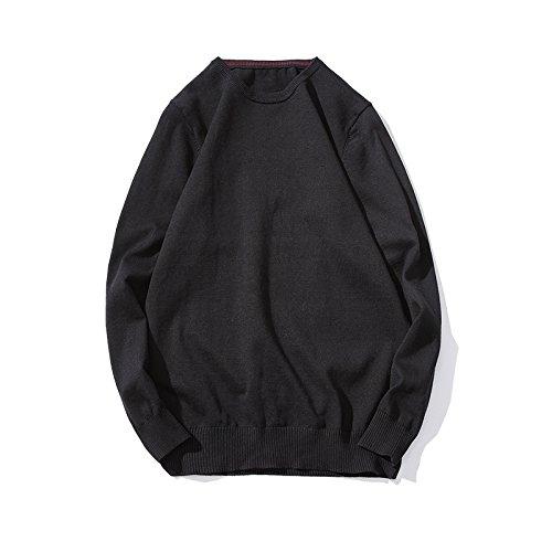 HY-Sweater Der Code der Stricken Pullover Männer Pullover und die Freizeitaktivitäten Suite und schlanke, Schwarze Serie L - Black Männer, Die Suite
