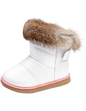 Baby-Schnee-Aufladungen, Baby-Jungen-Mädchen-Kind-Baumwollwinter-dicke Schnee-Aufladungen-Leder-Schuhe Martin-Aufladung-warme...