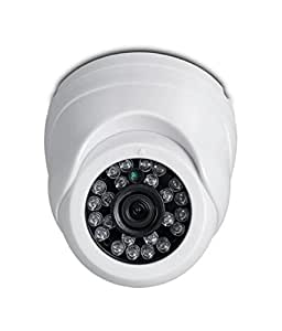 iBall CCTV 720P 1.0 MP HD Resolution Digital Dome Camera with Day & Night Vision & IR Range upto 20Mtr. with 24 LEDs - iB-HDD732HM