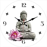 ganjue Bouddha Design Horloge   Moderne Silencieux Salon Decor Home Decor Montres Grande Horloge Murale Pas De Son Ticking 12 inch (30cm) B10234