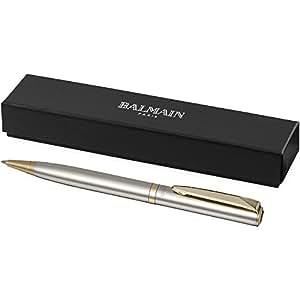 Balmain Kugelschreiber Silber//Silber Metall Kugelschreiber Ball Pen,Großraummine