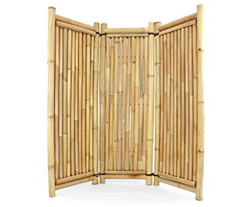 Raumteiler aus Bambus 3teilig 180x180cm mit Petung Rohre 4 bis 7cm - Paravent Raumteiler Mobile...