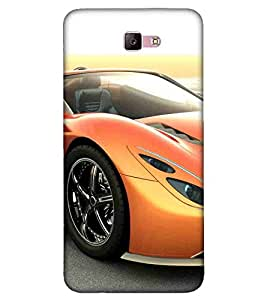 For Samsung Galaxy A5 - 2017 :: Samsung Galaxy A5 (2017) :: Samsung Galaxy A5 2017 beautiful car, yellow car, 3d car Designer Printed High Quality Smooth Matte Protective Mobile Case Back Pouch Cover by APEX