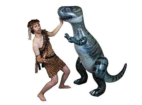 ILOVEFANCYDRESS STEINZEIT KOSTÜM VERKLEIDUNG +170cm GROSSER AUFBLASBARER Dinosaurier T-REX=Paar EISZEIT=Erwachsene Dekoration Fasching Karneval HÖHLEN =KOSTÜM-XXLarge