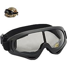 Anteojos UV400 a prueba de viento, moto de esquí de moto de nieve gafas anti-polvo de esquí Airsoft gafas tácticas deportes gafas de seguridad de protección