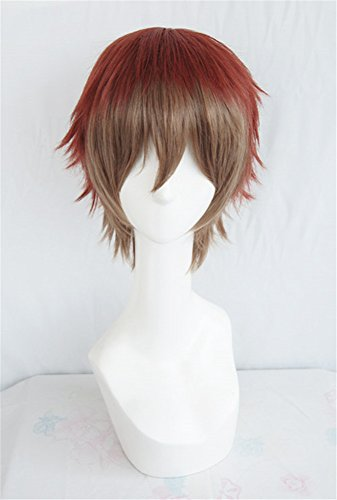 Kostüm Red Prince (LanTing Cosplay Perücke Dream World & 100 Sleeping Princes Red Mix Brown Perücke Corta Cosplay Party Fashion Anime Human Costume Full wigs Synthetic Haar Heat Resistant)