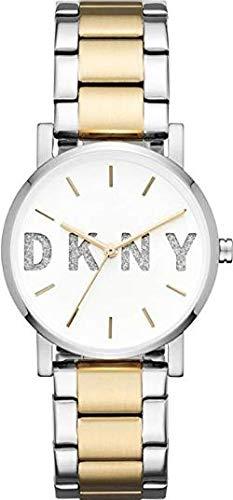 DKNY Damen Analog Quarz Uhr mit Edelstahl Armband NY2653