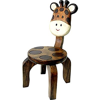 Kids Or Children's Solid Wood Giraffe Seat Chair New - low-cost UK light store.