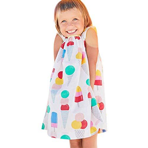 Mädchen Kleider Festlich Outfits EIS drucken Trägerlos Hochzeitskleid Partykleid Sommerkleid Prinzessin Kleid Kinder Kleider Baby Bekleidungssets Neugeborenen Bekleidungset ()
