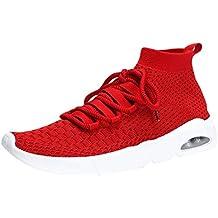 JiaMeng Zapatillas Deporte Hombre Zapatos para Correr Athletic Moda Casual con Cordones de Punto Deporte Zapatillas