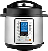 Nutricook Smart Pot Prime 1000W, 6 Liter Electric Pressure Cooker - Stainless Steel, NC-SPPR6