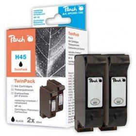 Preisvergleich Produktbild Peach Doppelpack Druckköpfe schwarz kompatibel zu Kodak,  HP,  Pitney Bowes,  Apple No. 45,  51645A
