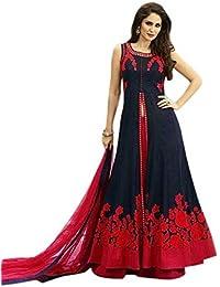 Shree Women's Silk Unstitched Lehenga Choli (SRENT003_Multi-Coloured_Free Size)