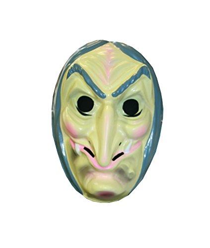 (Hexenmaske, Halbmaske, sortierte Modelle, Halloween, Karneval, Mottoparty (Modell 2))