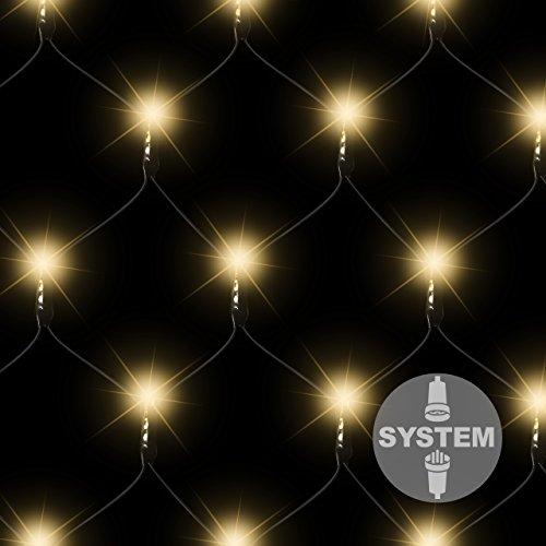 diLED 100-er LED Lichternetz warm-weiß für erweiterbares Profi-Beleuchtungs-System Innen und Außen wasserdicht OHNE Netzteil