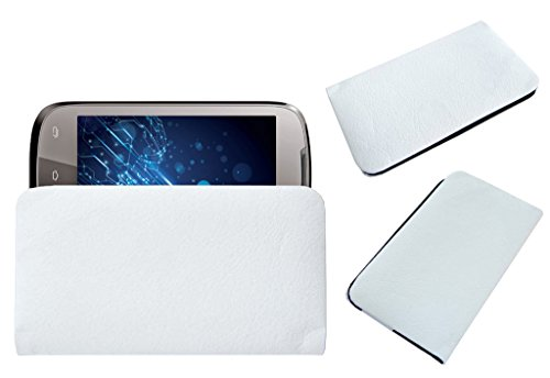 Acm Rich Leather Soft Case For Lava Xolo A500 Mobile Handpouch Cover Carry White  available at amazon for Rs.329