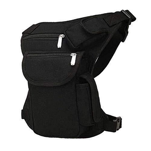 Armee Motorrad Tasche Hüfttasche, Moto Satteltaschen, Sdrop Canvas Taille Bein Navigator Gürtel Moto Taschen (Schwarz) Sat Nav Kit