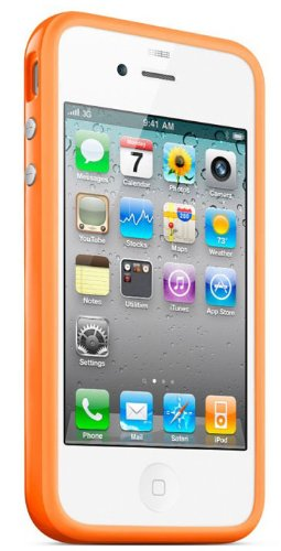 Bumper Case Cover für Apple iPhone 4/4S - Grün orange