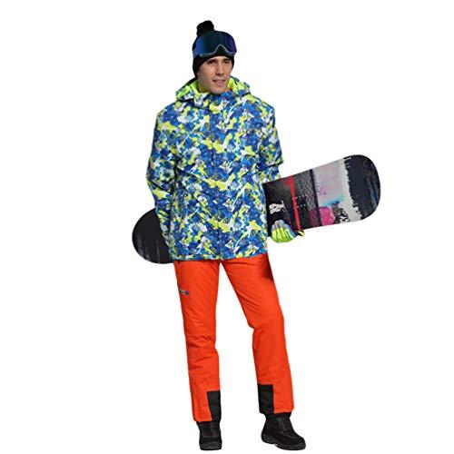 Lvguang Erwachsene und Kinder wasserdichte Berg-Skijacke Winddichte Warme Reisejacke mit Mehreren Taschen & Skihosen (Orange#1, Asia(M) XS)