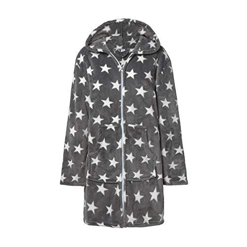 Bata o Albornoz Estrellas Mujer Coralina tacto Seda o Visón Homewear con Capucha S / M, BATA STARS...