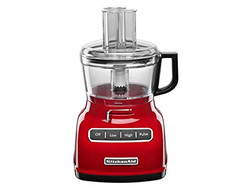 KitchenAid 7-Cup Food Processor Empire Red with Exact Slice System