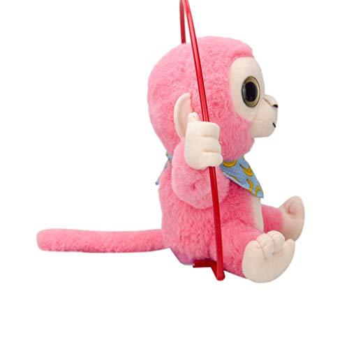 YIHANK Niedliches Mimikry-Haustier, das Affen spricht, wiederholt, was Sie elektronisches Plüsch-Spielzeug Sagen (Rosa) - Der Affe Spielzeug George