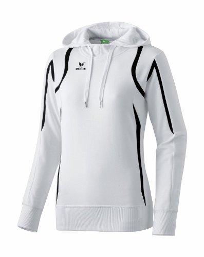 59a421fdae17 erima Damen Kapuzensweatshirt Razor, weiß schwarz weiß, 42, 107115
