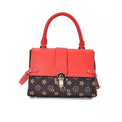 ZPFME Frauen Umhängetaschen Umhängetasche Tasche Mode Party Retro Bankett Rucksack Red