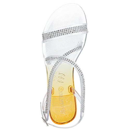 Damen Schuhe, JS-02, SANDALEN Orange