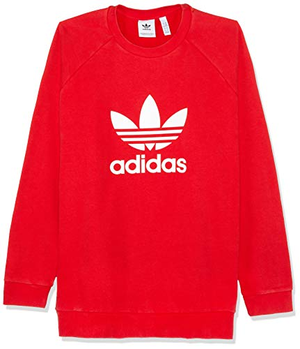 adidas Herren Trefoil Crew Sweatshirt, Collegiate Red, S - Adidas Gerippter Pullover