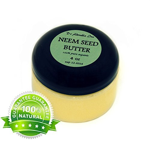 Neem Seed Butter Pure Organic Cold Pressed Unrefined Skin Recovery Relief Healing 4 oz