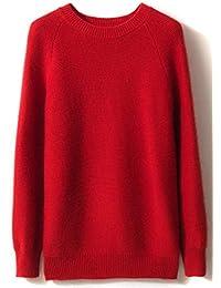 LinyXin Cashmere Damen Kaschmir Pullover Wolle Rundhals Langarm Freizeit  Winter Warm Pulli Sweater ca701aba2e