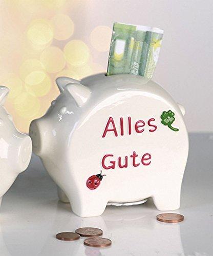 Spardose Sparschwein – Alles Gute – Berufsanfänger Schulanfänger Hochzeit Geburtstag