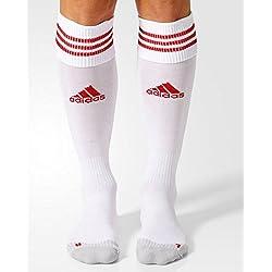 adidas Adisock 12, Medias para Hombre, Blanco/Rojo (White/University Red), 43-45 EU, 1 par