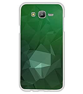 FUSON Abstract Green Background Triangles Designer Back Case Cover for Samsung Galaxy J7 J700F (2015) :: Samsung Galaxy J7 Duos (Old Model) :: Samsung Galaxy J7 J700M J700H