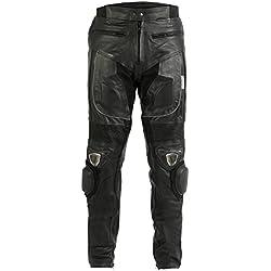 "TMW Mens Armoured Motorcycle Biker Leather Bike Jean Trousers With Sliders Metal#Waist 44"" Leg 32"""