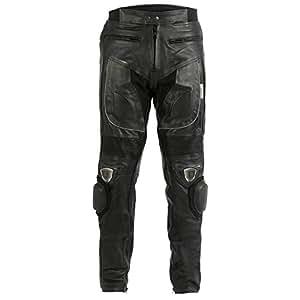 Jean/pantalon de moto - homme - cuir - sliders en métal - W30 L32